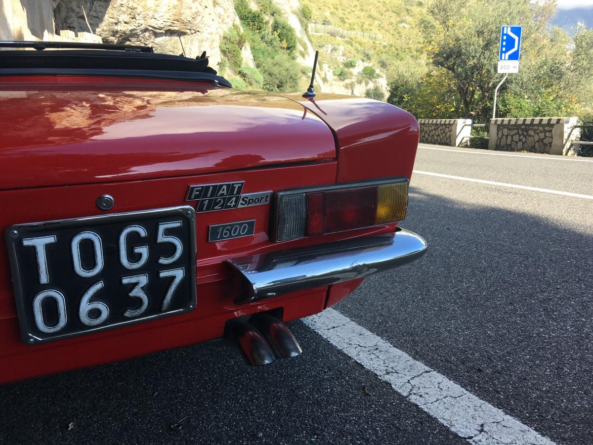 Fiat 124 Spider 1970 Car Hire Amalfi Coast Rental Sorrento Sport Brand Model Year