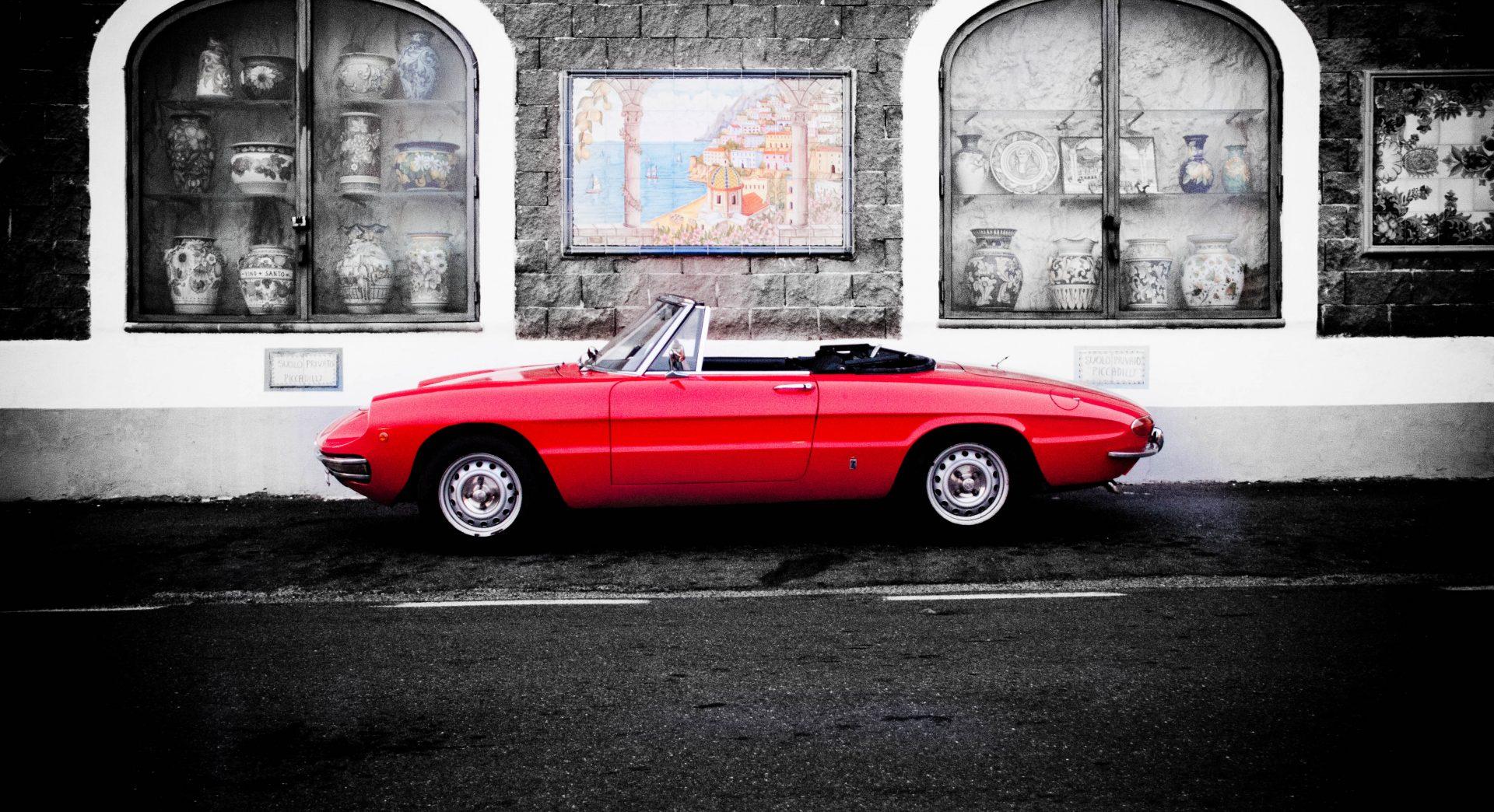 Car hire amalfi coast - rental classic car Sorrento - Spider life ...
